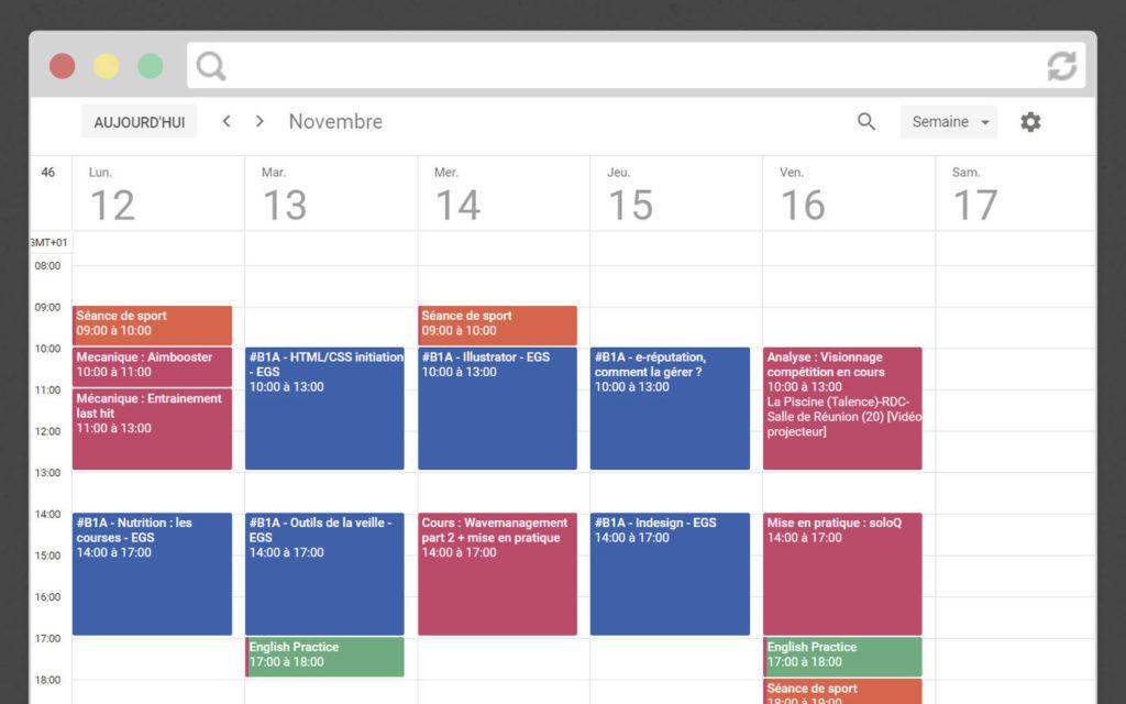 Exemple planning bachelor esport digital